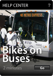 Using RTD's Bus Bike Racks