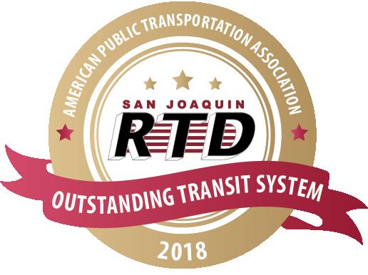 San Joaquin RTD 2018 Outstanding Transit System Award logo
