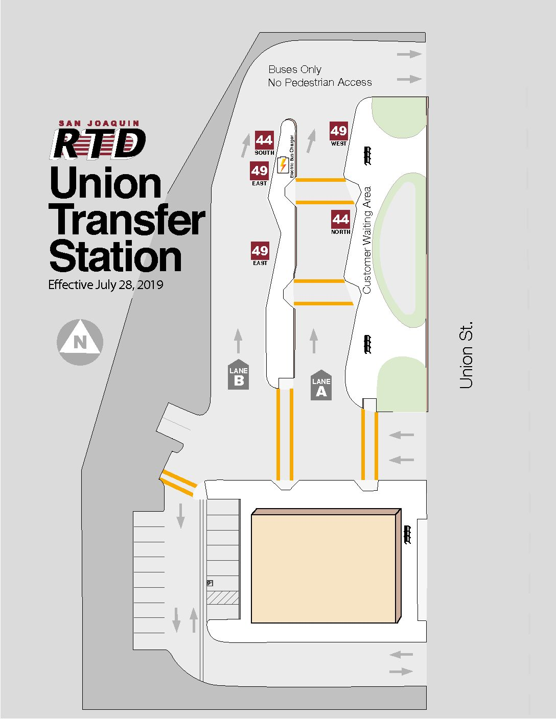 Union Transfer Station Platform Map