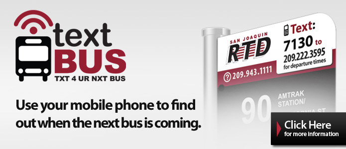 Text bus: text for your next bus. Use your mobile phone to find when the next bus is coming.