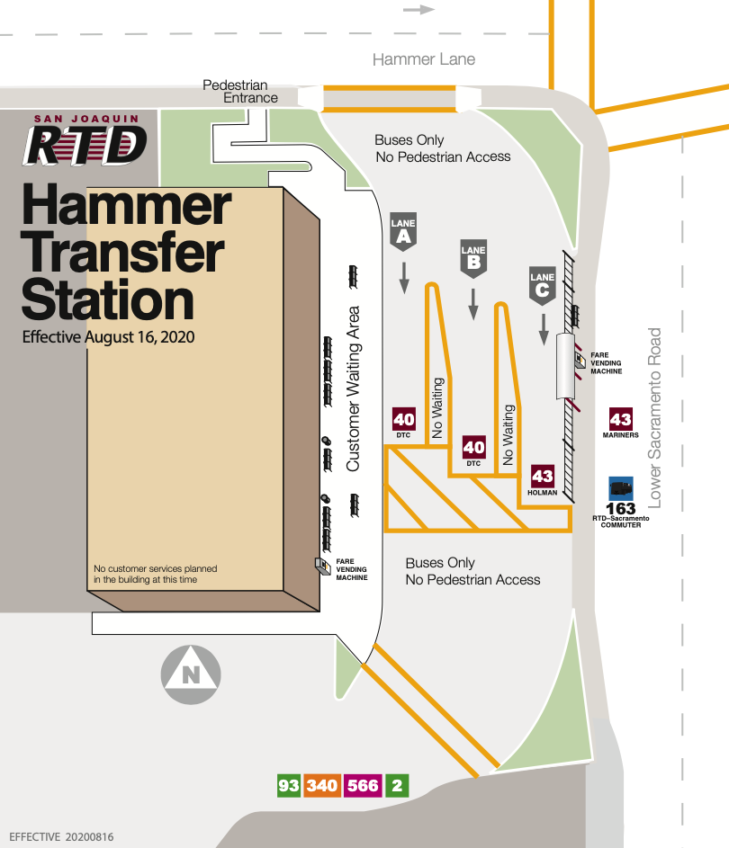 Hammer Transfer Station Platform Map