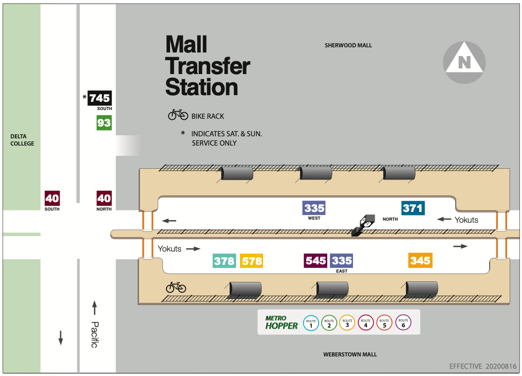 Mall Transfer Station Platform Map