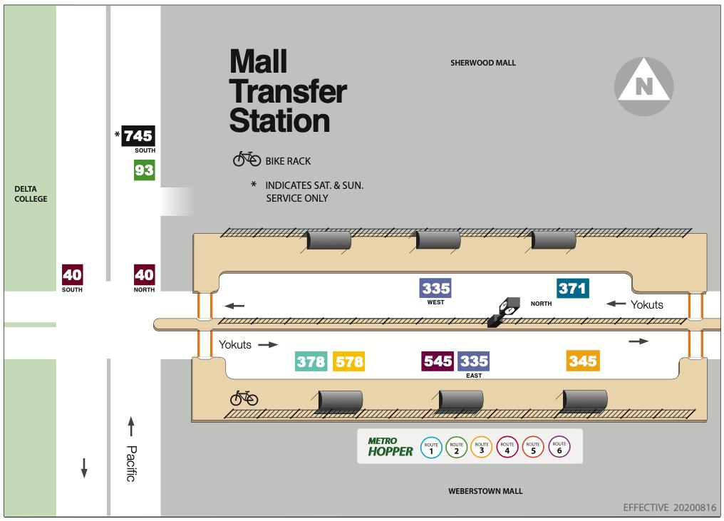 Mall Transfer Station Platform Map